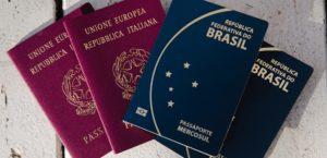 passaporte italiano e brasileiro