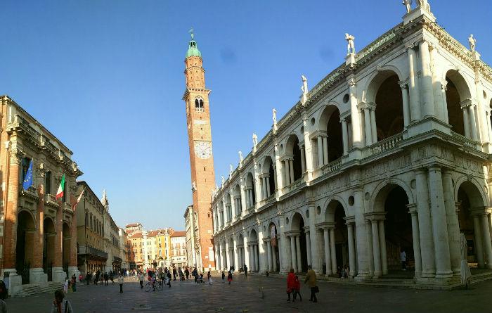 Vários nada pra fazer em Vicenza, na Itália