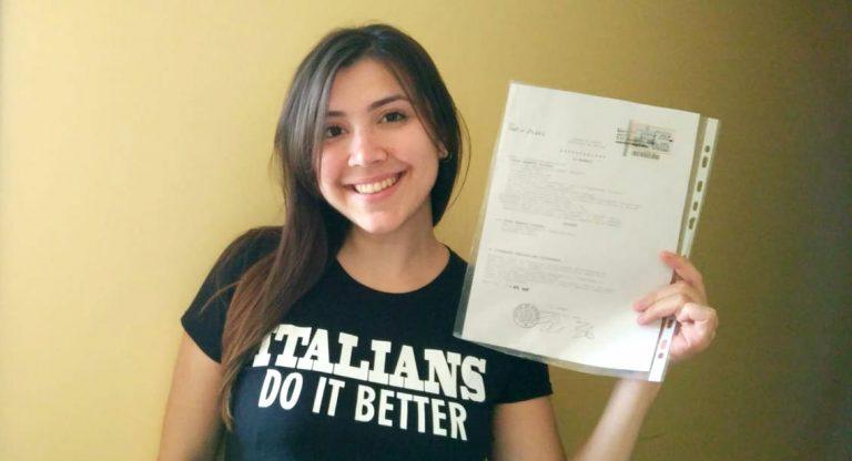 Chegou a Não-Renúncia: sou italiana!