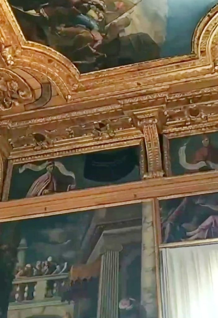 Foto de afrescos no Palazzo Ducale, em Veneza