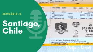 Capa do podcast de viagem Beijo e Ciao escrito Santiago, Chile