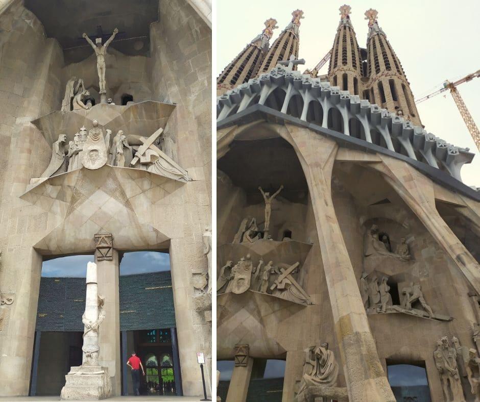 Fachada da Paixão de Cristo na Sagrada Família em Barcelona