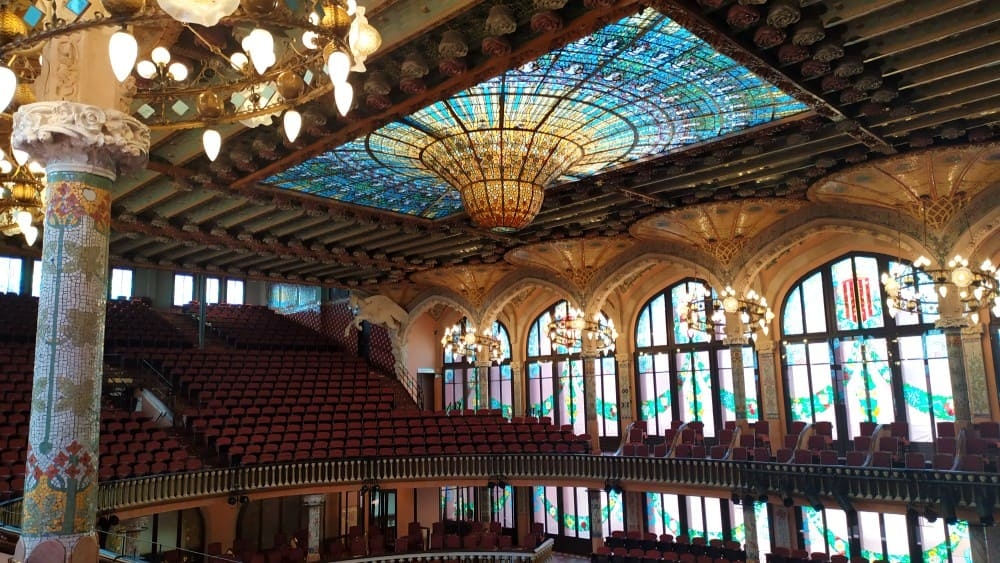 Palau de la Musica Catalana: domo