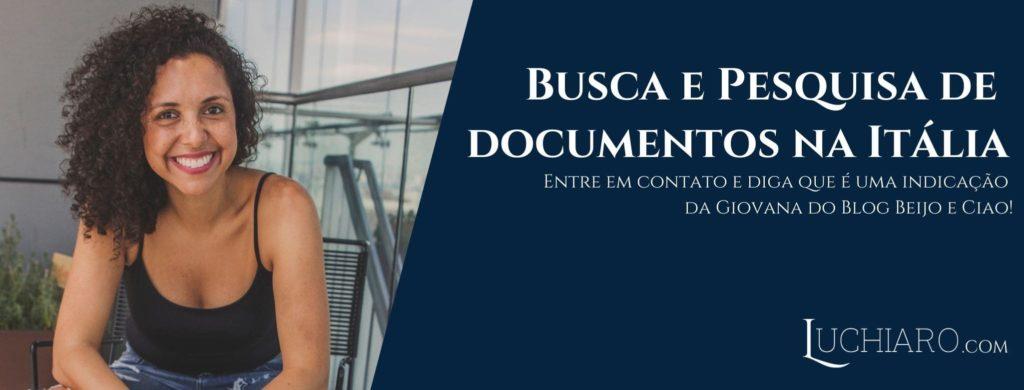 busca de documentos para cidadania italiana